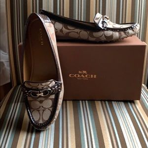 Coach Logo Brown Loafers